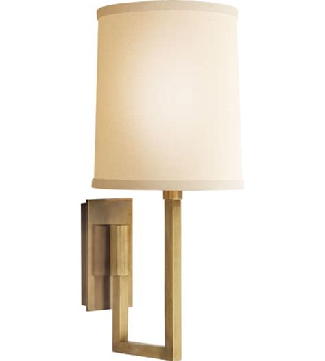 visual comfort barbara barry aspect library sconce in soft