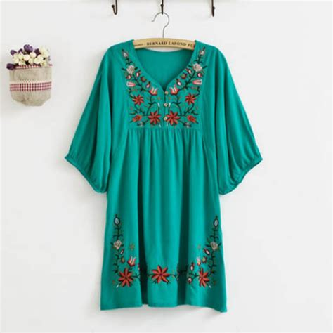 casual dress flowers embroidered blouse maternity dresses casual