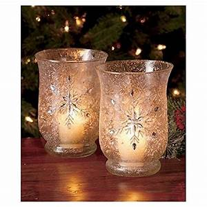 set of 2 elegant frosted snowflake winter jeweled glass With kitchen colors with white cabinets with elegant votive candle holders