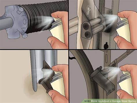 how to tighten torsion on garage door how to adjust a garage door with pictures wikihow