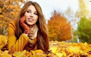 Leaf, Women, Autumn