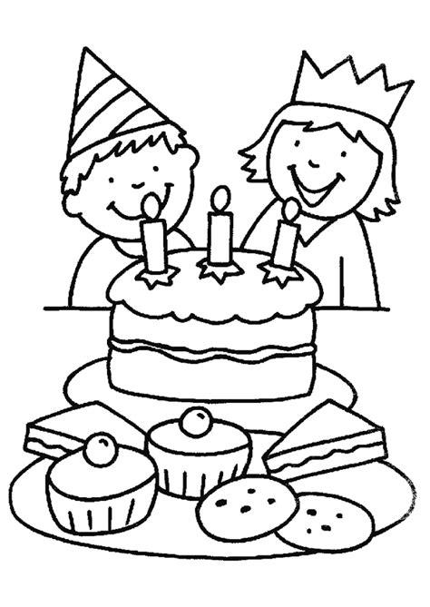 Coloriage Anniversaire Gâteau Enfants Hugolescargotcom
