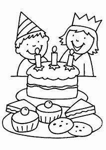 Dessin Gateau Anniversaire : coloriage anniversaire g teau enfants ~ Melissatoandfro.com Idées de Décoration