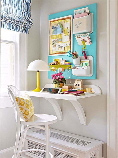 Corner Desk Organization Ideas by Remodelaholic Simple Diy Wall Desk