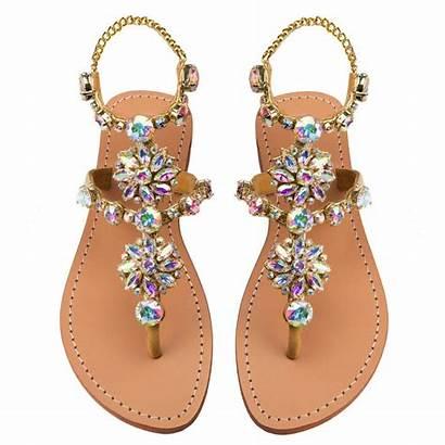 Sandals Jeweled Amelia Island Flat Rhinestone Shopmystique