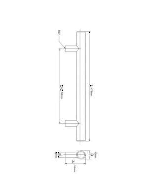 richelieu hardware in 298 mm brushed contemporary metal pull 3486 richelieu hardware