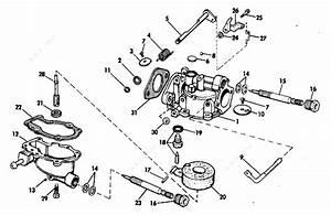 Evinrude 1973 4 - 4336c  Carburetor