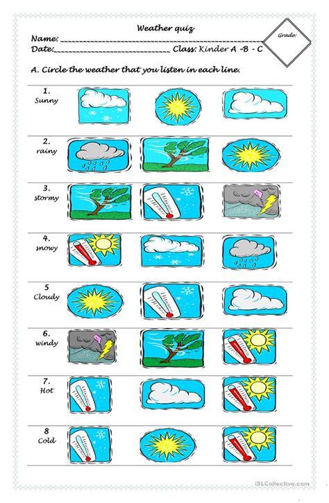 weather quiz worksheet free esl printable worksheets
