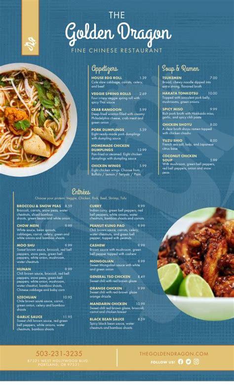 elegant chinese menu design templates  musthavemenus