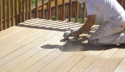 wood deck refinishing