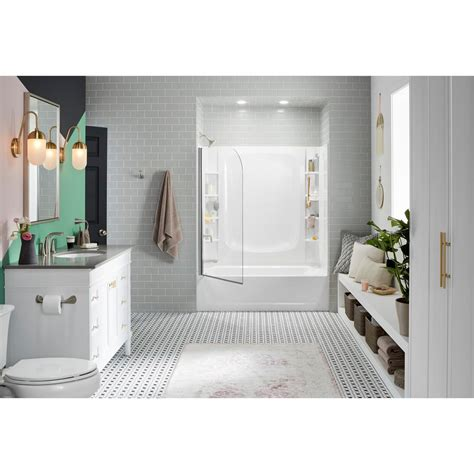 sterling store  ft left hand drain rectangular alcove bathtub  wall set   piece