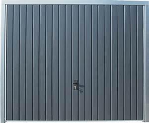 Porte de garage basculante grise h200xl240 bricoman for Porte de garage grise