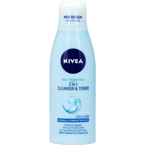 nivea daily essentials 2 in 1 cleanser and toner 200ml clicks