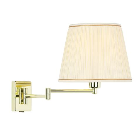 endon lighting extended swing arm wall l in brass