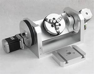 Cnc 4th Axis Stepper Motor Rotary Table With 3 Jaw Chuck