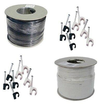 aerial coaxial cable wire webro digital rg6 cable 50m 100m 250m aerial wire ebay