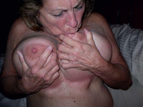 Mature Wife Sucking Tits