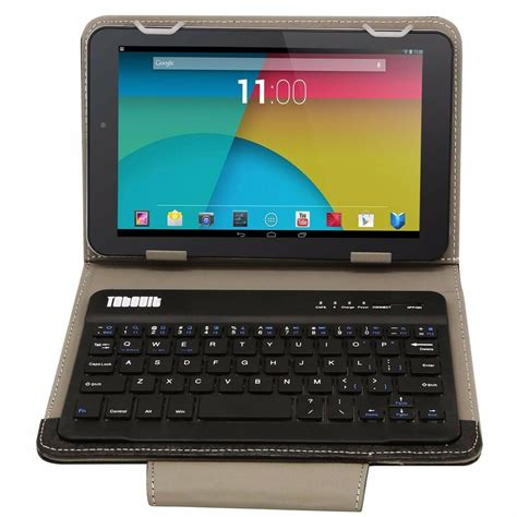 Keyboard For Android Tablet by Pu Leather Bluetooth Wireless Keyboard Cover With