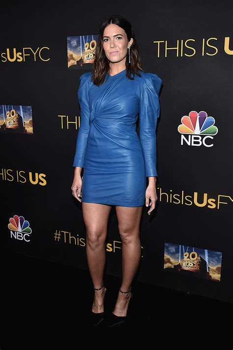 mandy moore attends  evening     leather
