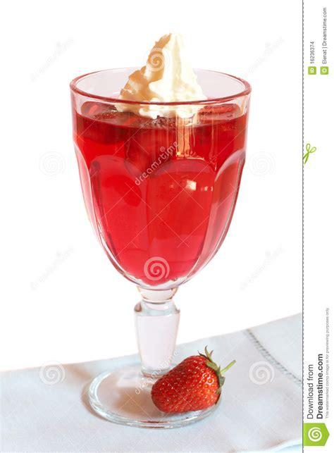 strawberry jelly  cream stock images image