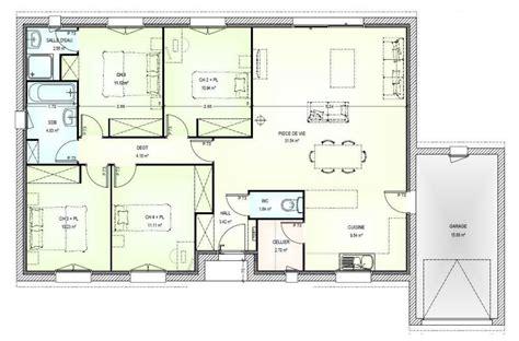 plan 3 chambres plan de maison 3 chambres une grande maison de plainpied
