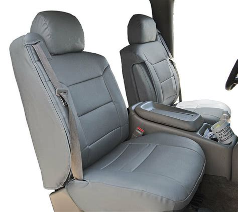 Leather Chair Covers For Sale by Chevy Silverado 2000 2002 Grey Leather Like Custom Front