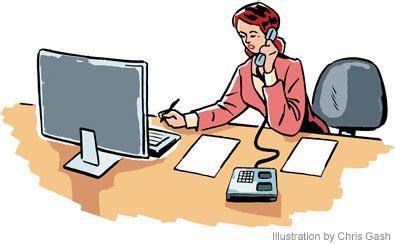 clipart bureau administrative assistant clip