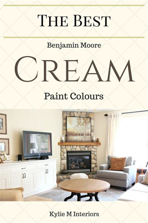 the best cream paint colours benjamin moore for the