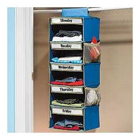 Days Of The Week Closet Organizer For by Days Of The Week Closet Organizer Findgift