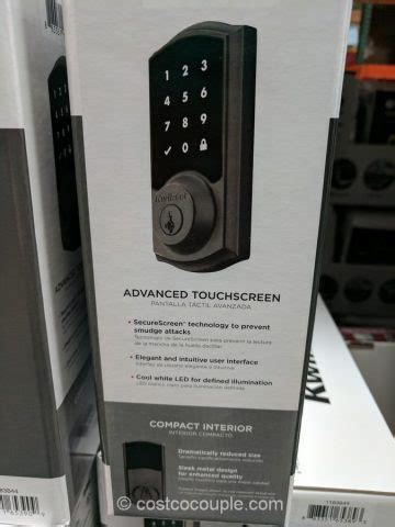Kwikset Touchscreen Electronic Deadbolt Set