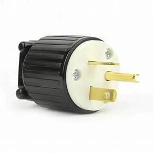 Straight Electrical Plug 3 Wire  20 Amps  250v  Nema 6