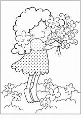 Coloring Flower Printable Pages Bouquet Spring sketch template