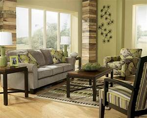Green Living Room that Bringing Nature Right Into Your
