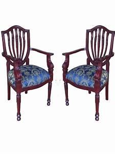 Fauteuil Style Anglais : 2 fauteuils style anglais victorien en acajou massif ~ Teatrodelosmanantiales.com Idées de Décoration