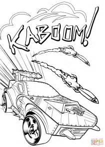 hot wheels kaboom coloring page  printable coloring