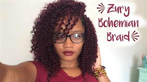 Zury Bohemian Braid Crochet Braids + 4 Hairstyles
