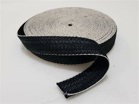 Upholstery Webbing Straps - 33m black white 2 quot wide chair webbing upholstery jute
