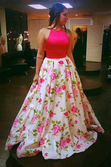 Flowers ️ | Printed prom dresses, Floral print prom dress ...