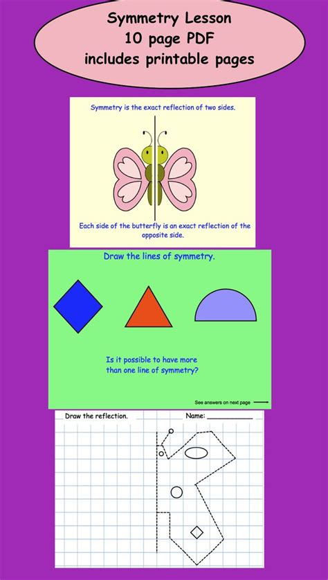 symmetry lesson  printables  gr