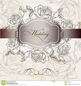 wedding invitation in elegant style with roses stock With elegant floral wedding invitations vector