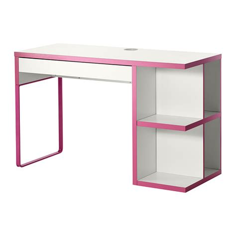 bureau rangement ikea micke bureau avec rangement intégré blanc ikea