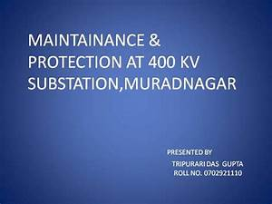 Ppt On Substation Equipments