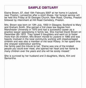25 obituary templates and samples template lab With funeral biography template