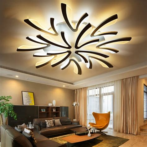 Led Lights In Dining Room by Acrylic Thick Modern Led Ceiling Lights For Living Room