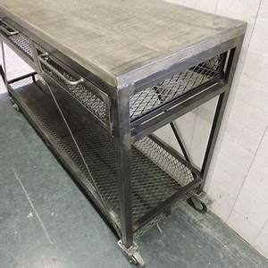 Console Bois Metal Industriel : meubles d 39 appoint ~ Teatrodelosmanantiales.com Idées de Décoration