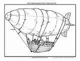 Airship sketch template