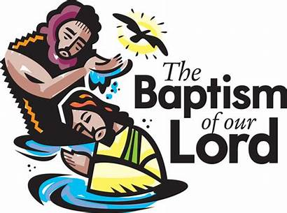 Baptism Lord Clip Jesus Clipart Church Churchart
