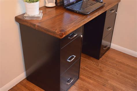 desk with file cabinet an inviting home a diy desk