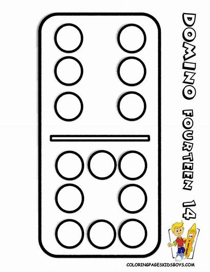 Coloring Pages Dominoes Easy Sheets Numbers Learn