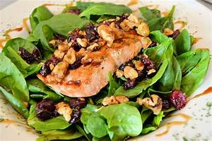 Grilled Salmon and Spinach Salad - Women Fitness